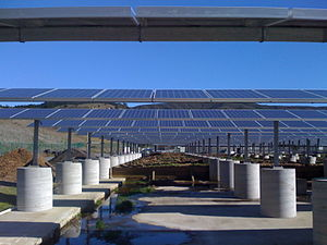 Solar panel on top of Pacifica's Waste Water t...